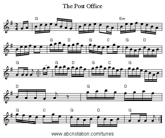 The Post Office - staff notation