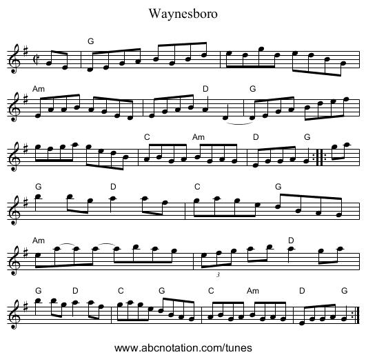 Waynesboro - staff notation