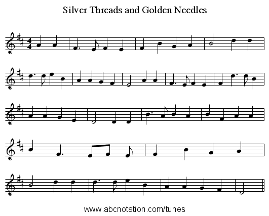 Abc Silver Threads And Golden Needles