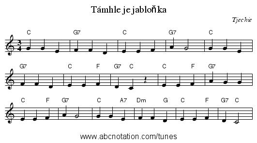 abc | Támhle je jabloňka -  trillian.mit.edu/~jc/music/abc/mirror/home.quicknet.nl/tjechie/0005