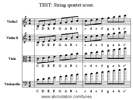 abc | TEST: String quartet score  - trillian mit edu/~jc