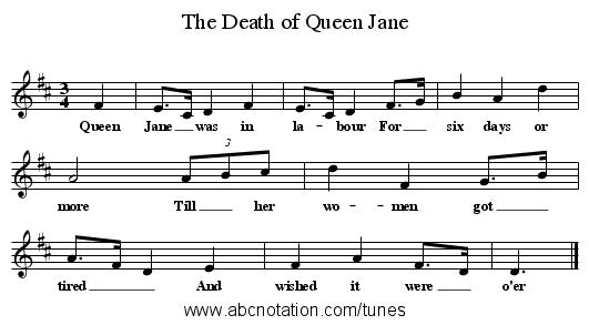 abc | The Death of Queen Jane - www joe-offer com/folkinfo/songs/abc